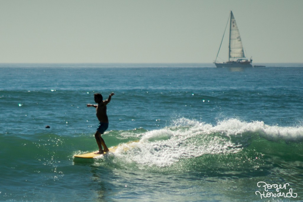 Surfing at San Onofre.
