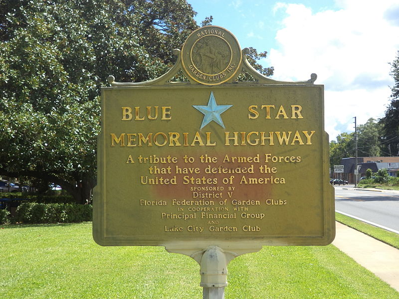 800px-Blue_Star_Memorial_Highway_marker,_Lake_City