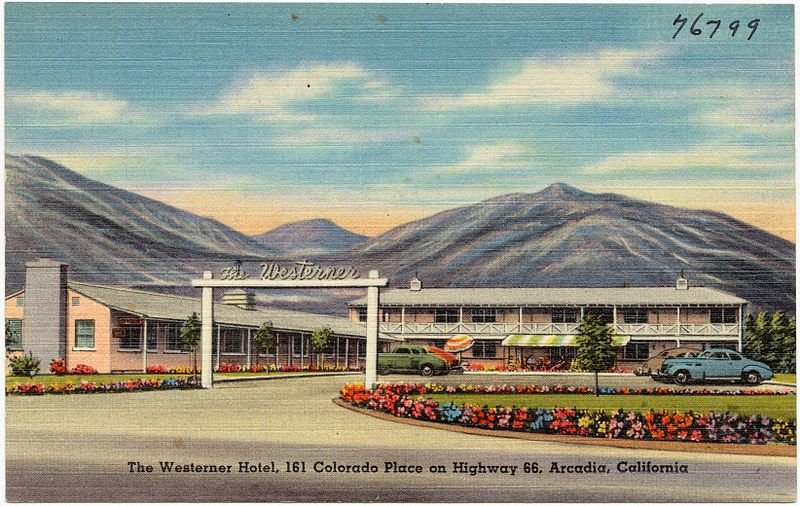 The_Westerner_Hotel,_161_Colorado_Place_on_Highway_66,_Arcadia,_California_(76799)